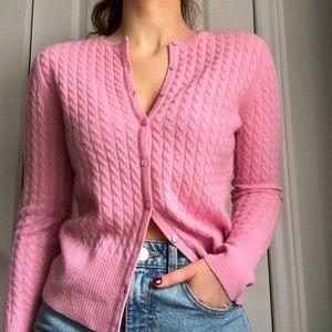 Vintage Saks Fifth Avenue Pink Cashmere Cardigan